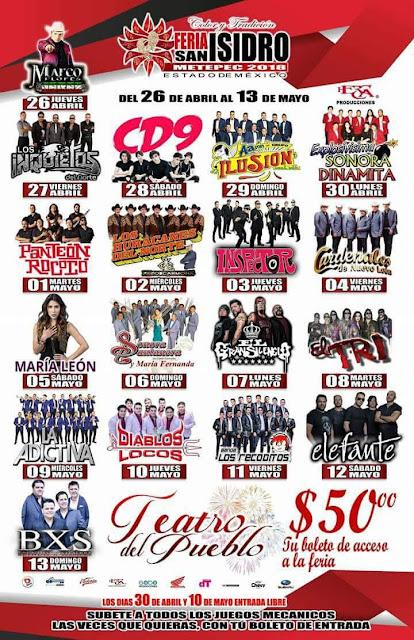 Feria, Metepec, Música, Conciertos