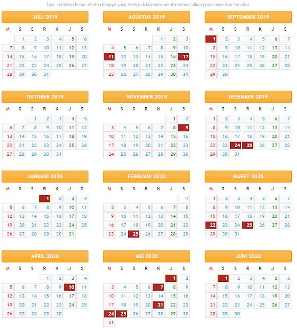 kalender pendidikan provinsi bengkulu 2019
