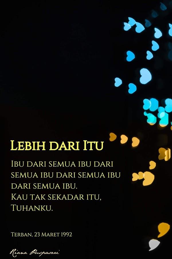 Puisi Lebih Dari Itu