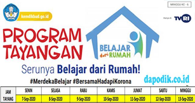 Panduan Program Belajar Dari Rumah Kemdikbud Minggu Ke 22 (07 September - 13 September 2020) - PAUD SD Kelas 1-3, SD Kelas 4-6, SMP, SMA/SMK dan Keluarga Indonesia Sederajat