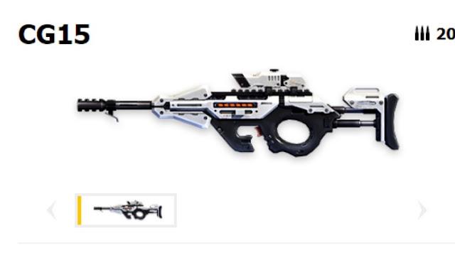 Senjata Sub Machine di FF: CG15