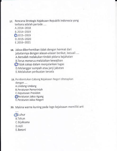 Soal Tes SKB CPNS Kejaksaan 2021