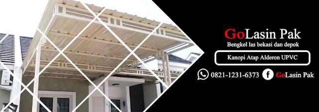 harga kanopi atap alderon upvc per meter
