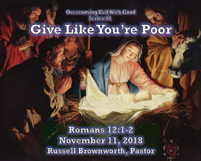 Overcome Evil with Good Series #1. Give Like You're Poor