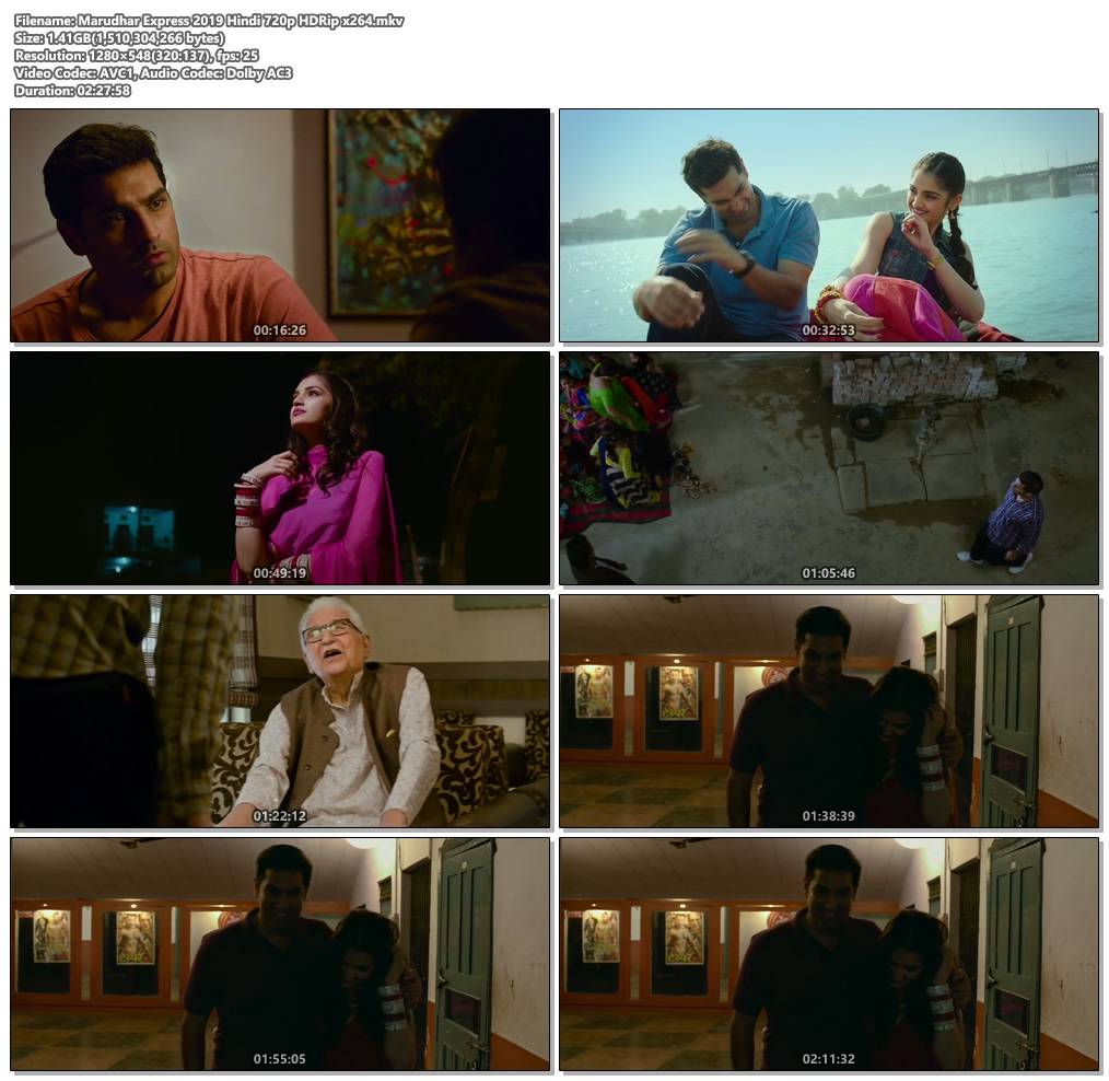 Marudhar Express 2019 Hindi 720p HDRip x264 | 480p 300MB | 100MB HEVC Screenshot