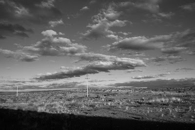 South Africa, landscape, black and white