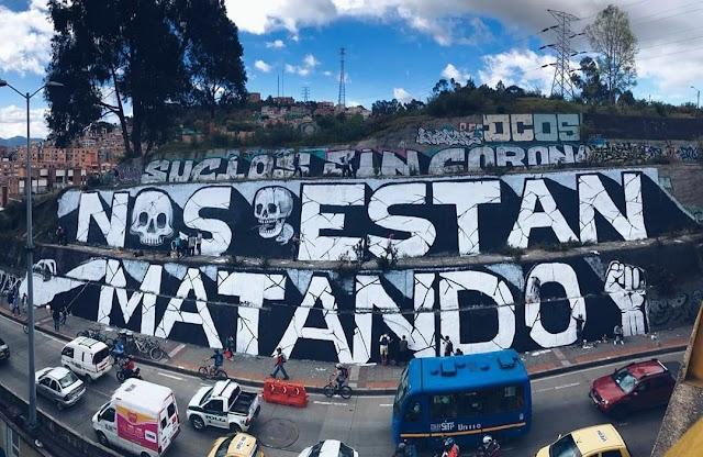 Grafiteros en Bogota escriben: Nos están matando