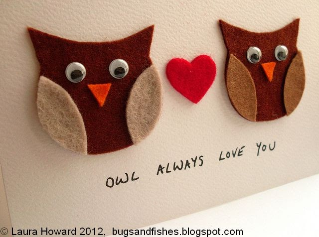 Bugs and Fishes by Lupin DIY Owl Always Love You Valentines – Owl Valentine Card