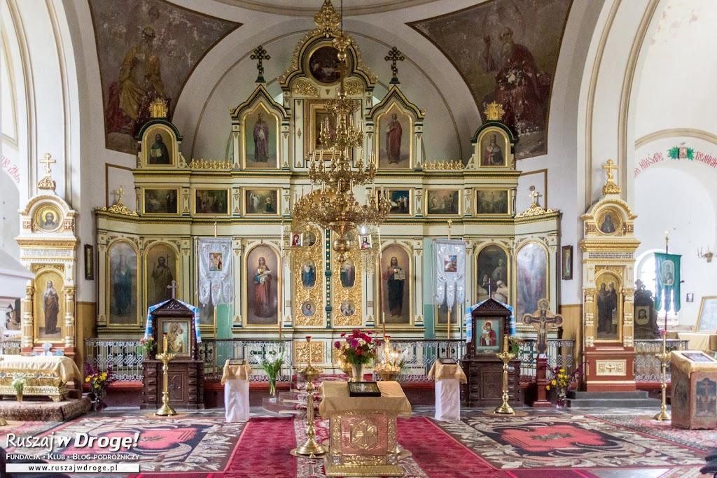 Piękny ikonostas w cerkwi we Włodawie
