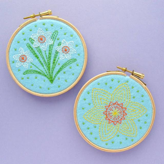 Subscribe to my newsletter to receive these free spring flower embroidery patterns
