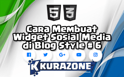 Cara Membuat Widget Sosial Media di Blog - Style #6