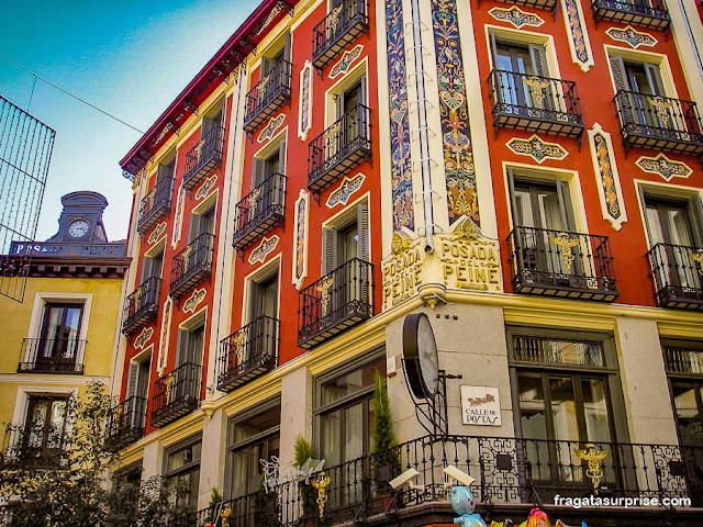 Fachada histórica no Centro de Madri
