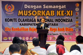 KONI Aceh Utara Pilih Ketua Baru
