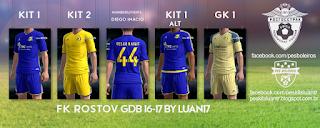 FK Rostov Adidas kits 2016-17 PES 2013