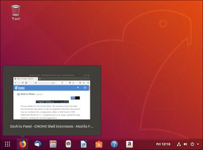 Windows-style live thumbnails