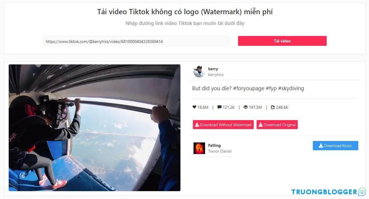 Tải video TikTok không có logo, watermark hình mờ miễn phí