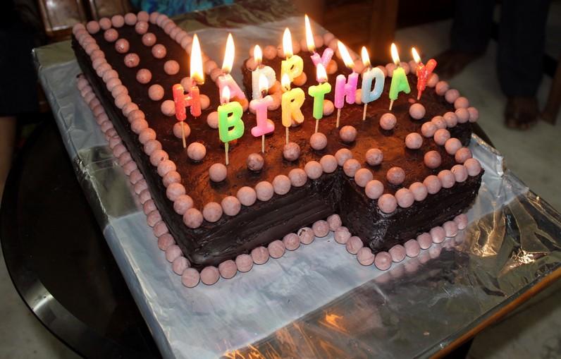 Refrigerate Birthday Cake