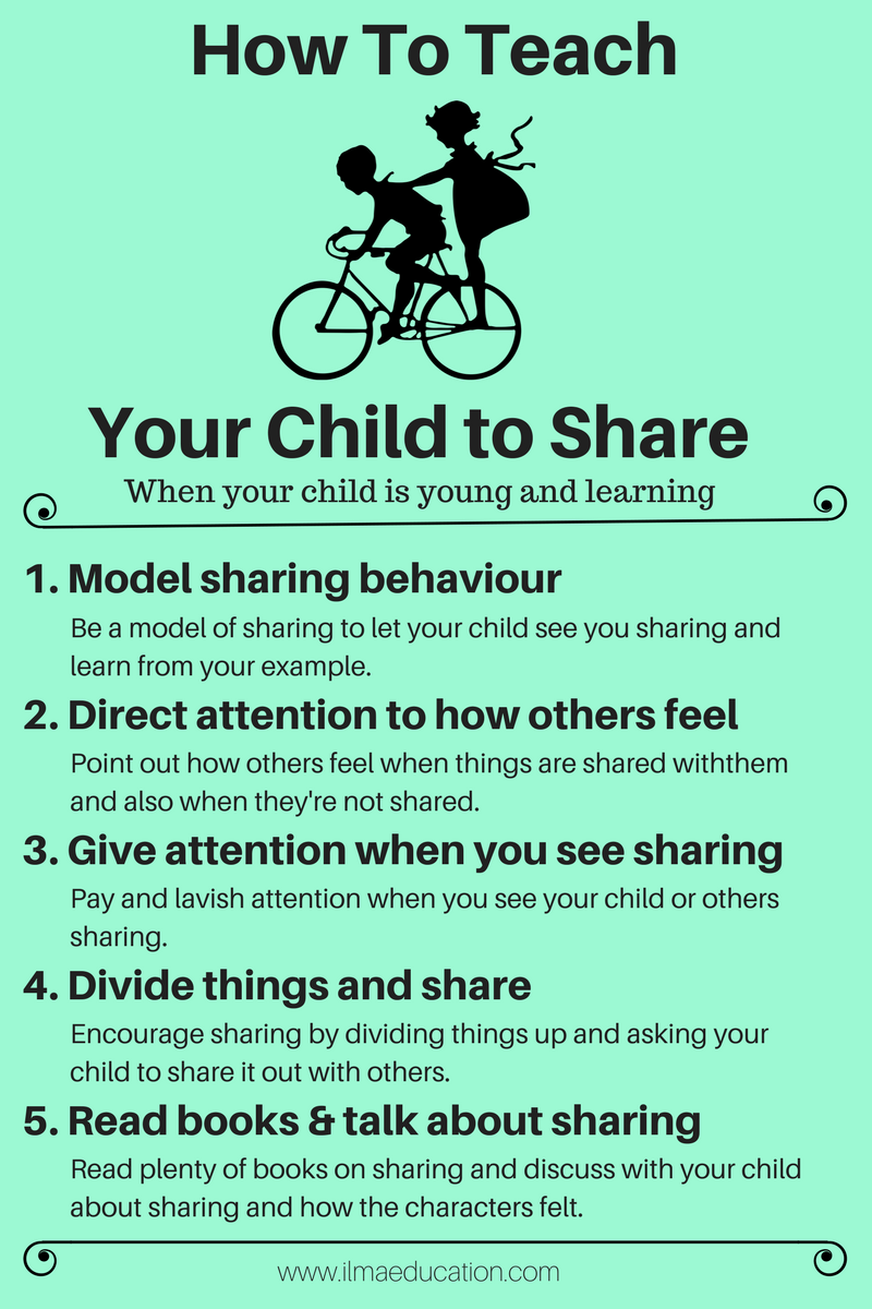 Teach Your Four Year Old To Read: ILMA Education: Teach Your Child To Share