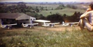 A shot of the old airfield in Lomalinda, Meta, Colombia.
