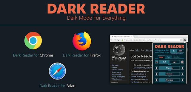 خطوات إضافة dark reader