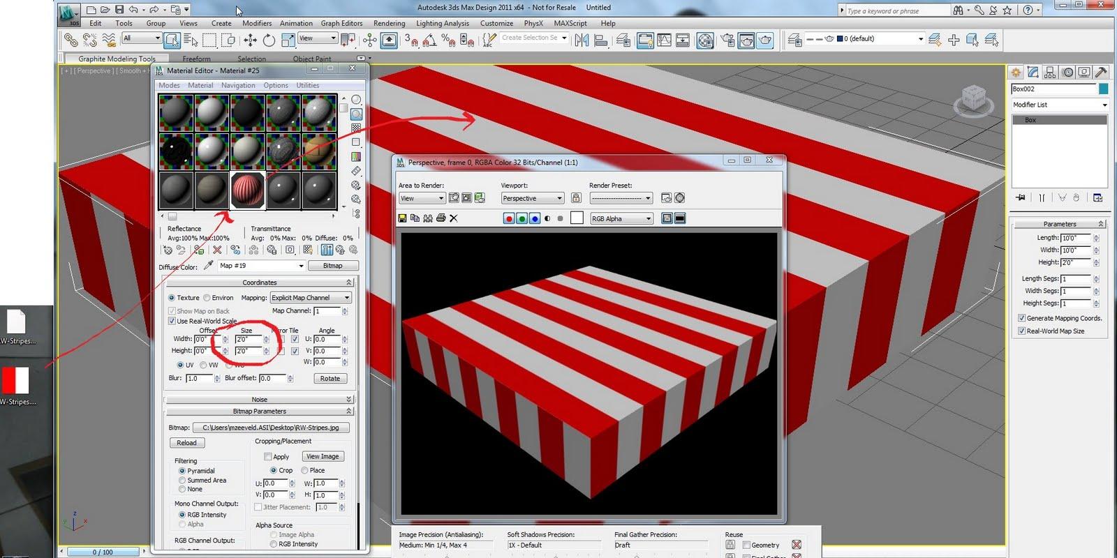 zeeveld: 3ds Max Design - Stripe Material