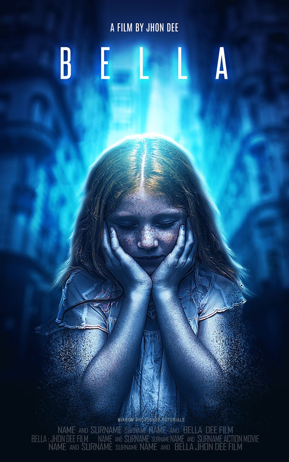 Make a Movie Poster With Blue Color and Dispersion Effect in Photoshop CC