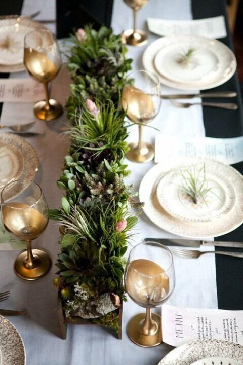 Sno stilen fest och br llopsdukningar - Table de noel chic ...