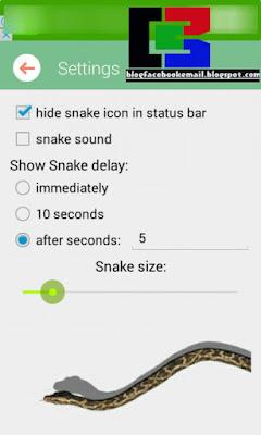 pengaturan layar android bisa muncul ular