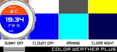 Color weather Plus watchface - Pebble Time Round