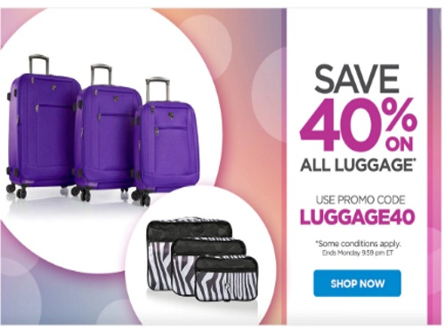 The Shopping Channel Flash Sale 40% Off Luggage Promo Code