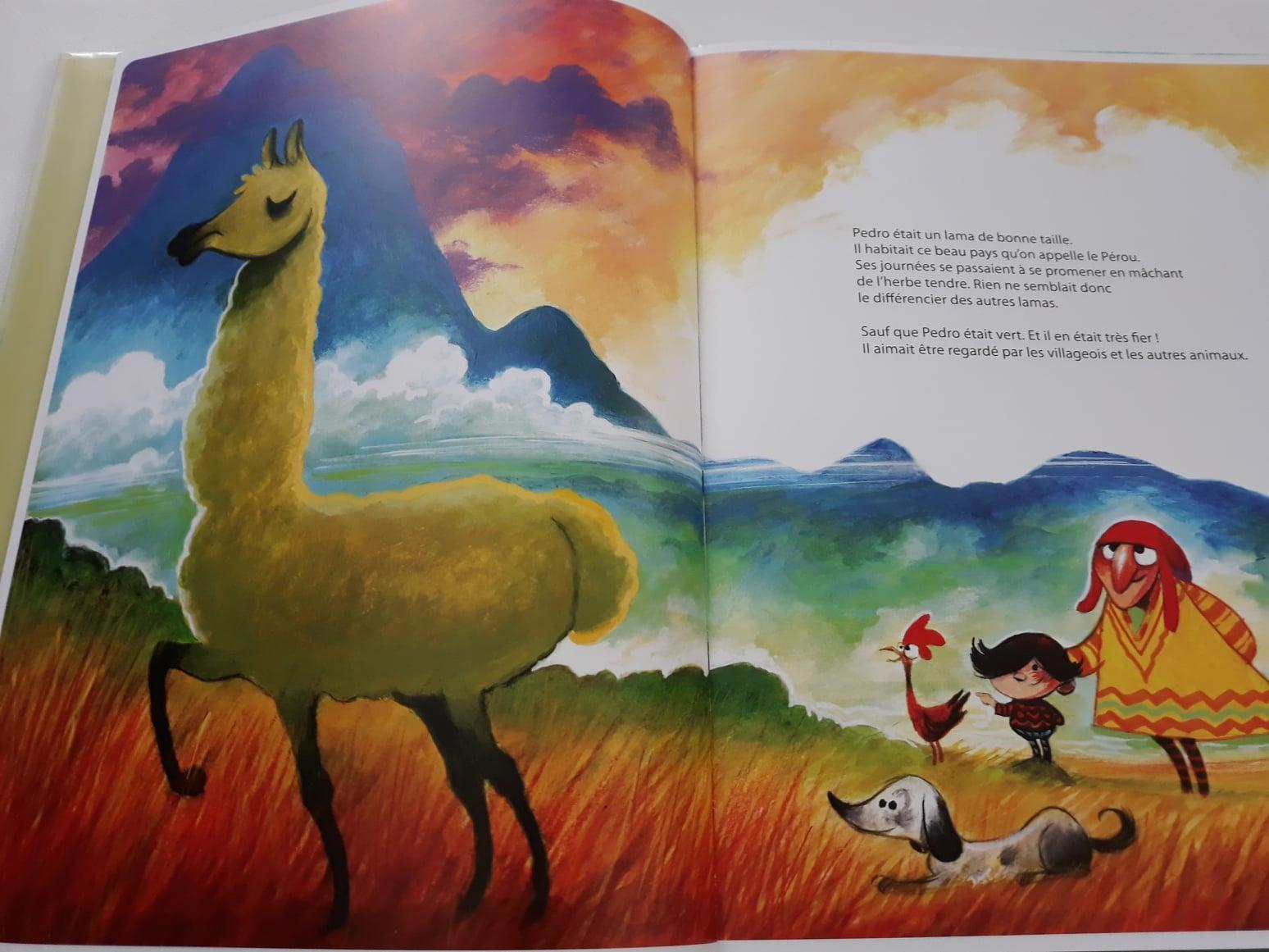 Le lama caca d'oie, de Richard Petitsigne et Olivier Supiot - Voir les 6 photos (sur le blog)