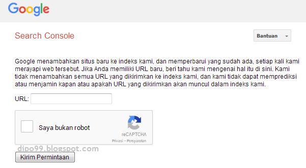 Gambar Fitur Google Search Console - Rayapi URL