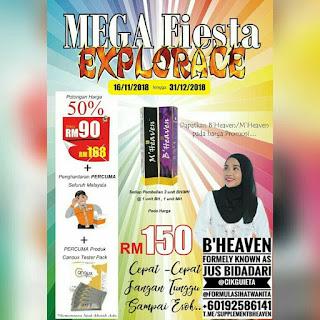 MEGA FIESTA EXPLORACE PROMOTION, MFEXP, BHEAVEN, MHEAVEN, Cikgu ieta, Promosi, Mega Fiesta Malaysia, Explorace, ieta Legacy, BFly, Agent Wanted, Stokis Wanted