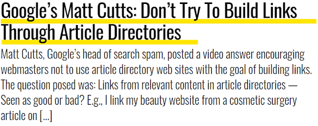 Perkataan Matt Cutts tentang link building