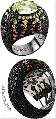 ♦Armoura Volcano yellow diamond ring #jewelry #armoura #brilliantluxury