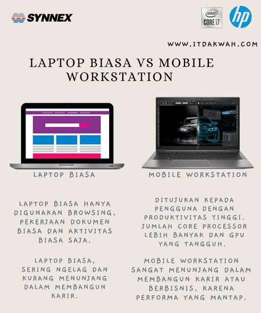 Bedanya laptop biasa dengan mobile workstation