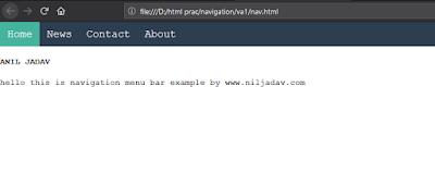 navigation bar in html