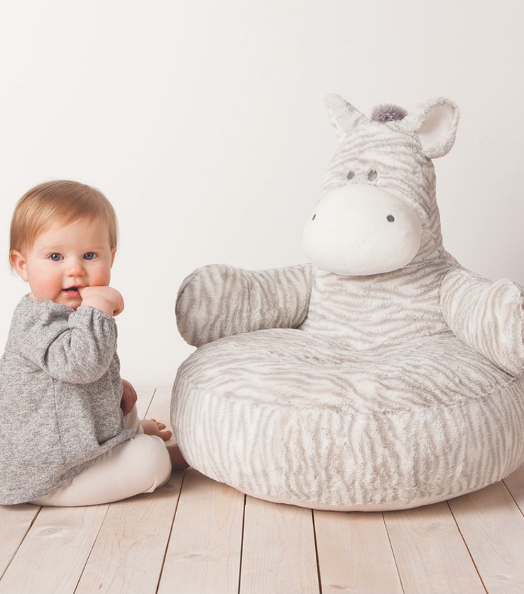 Nat & Jules Zebra Plush Baby Chair