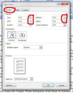 Gampang, Cara Mengatur Kertas dan Jarak Atas Bawah Kiri Kanan Dokumen