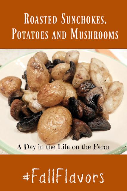 Roasted Sunchokes, Potatoes and Mushrooms