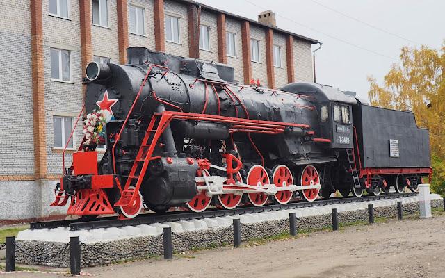 Памятник-паровоз - станция Тайшет
