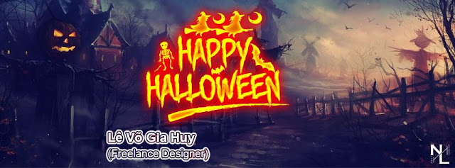 PSD Ảnh Bìa Halloween