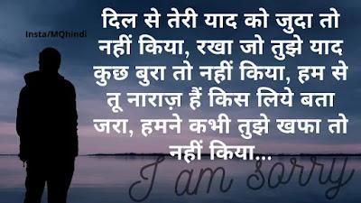 Sorry Shayari In Hindi For Friends