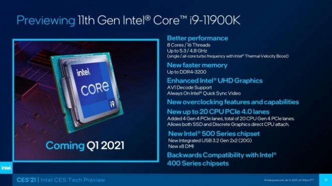 Core i9-11900K processor