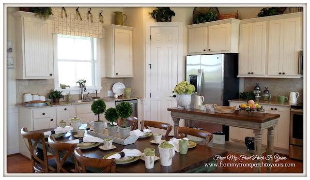 Green Farmhouse-Round Top-White- Kitchen-Texas-From My Front Porch To Yours