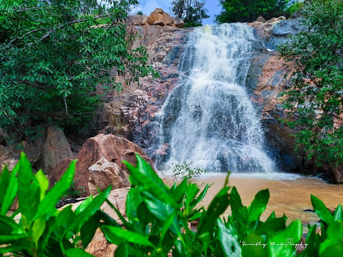 Kethanahalli falls in Full flow and its 6 Cascading Layers