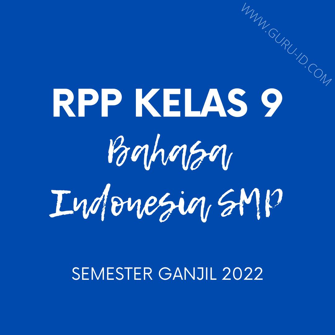 gambar rpp daring bahasa Indonesia kelas 9 semester 1