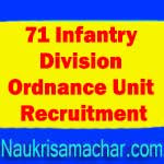 71 Infantry Division Ordnance Unit Jobs