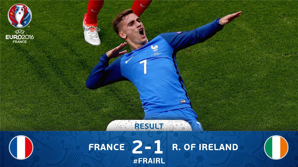 Sempat Tertinggal dari Irlandia, Perancis Menang 2-1