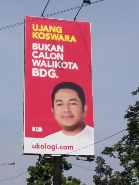 billboard ujang koswara lucu di bandung